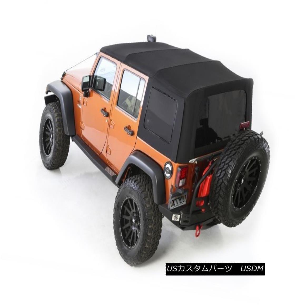 幌・ソフトトップ 2010-2017 Jeep Wrangler Unlimited Twill Replacement Soft Top & Tinted Windows 2010-2017ジープラングラー無制限ツイル交換ソフトトップ& 色づけされたウィンドウ