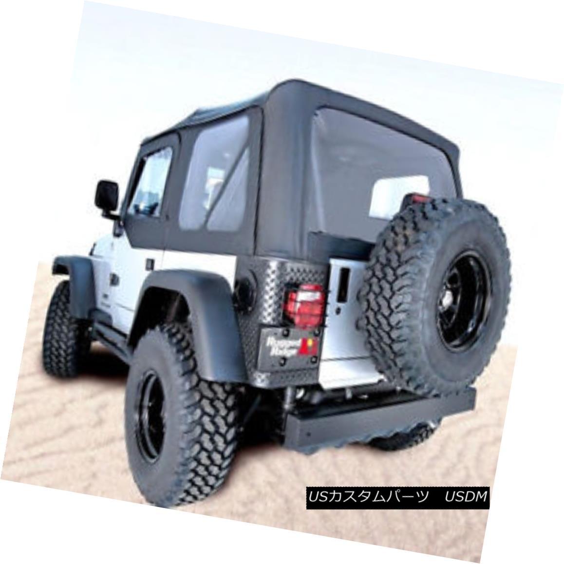 幌・ソフトトップ Jeep Wrangler Unlimited LJ Soft Top Black Diamond XHD Tinted windows 13731.35 ジープラングラー無制限LJソフトトップブラックダイヤモンドXHD着色窓13731.35