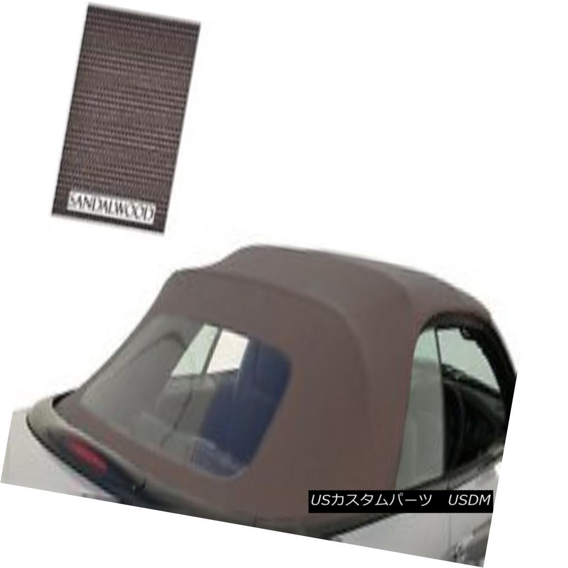 幌・ソフトトップ New Chrysler Sebring Convertible Soft Top & Plastic window Sandalwood Sailcloth 新しいクライスラーセブリングコンバーチブルソフトトップ& プラスチック製の窓サンダルウッドセイル