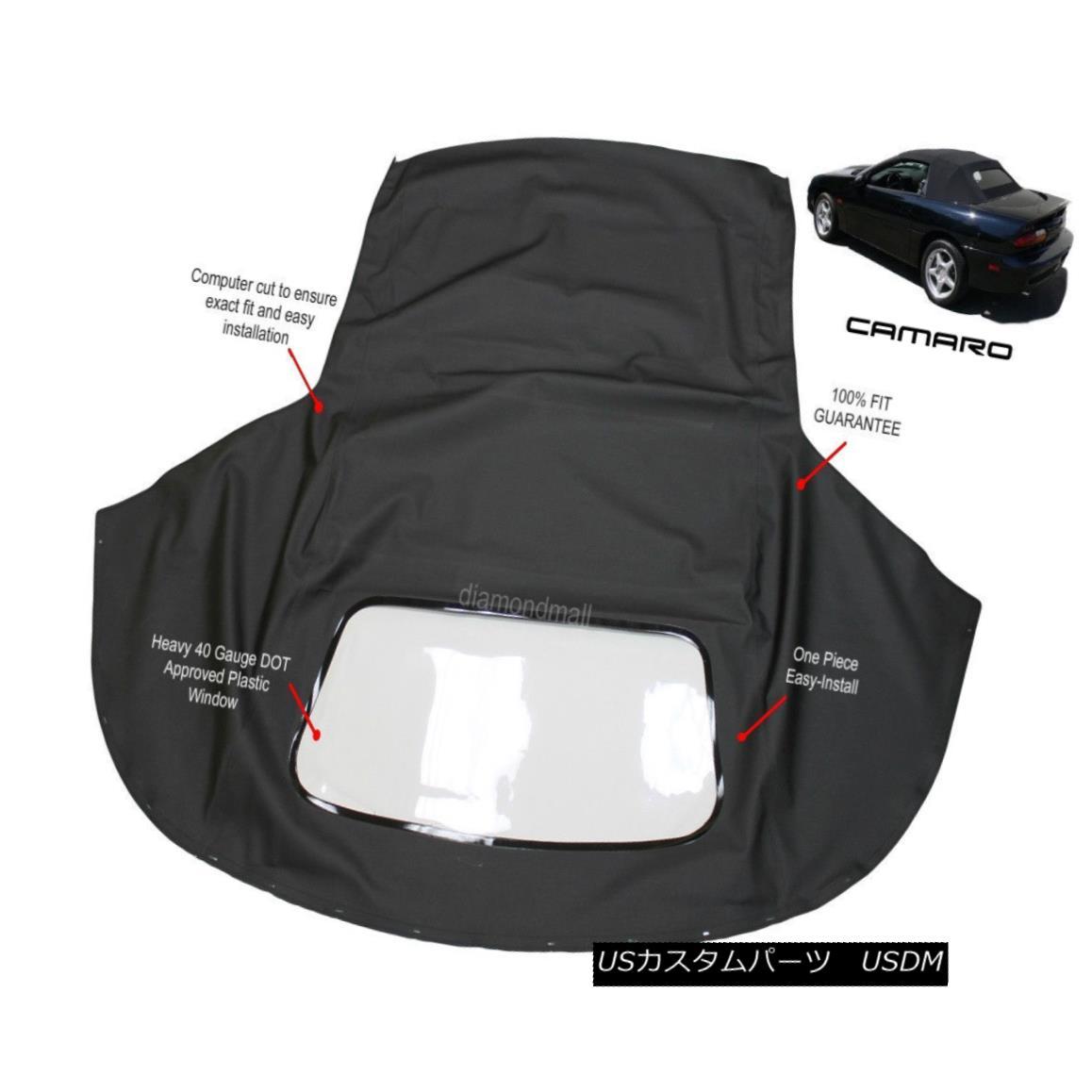 幌・ソフトトップ Chevrolet Camaro 1994-02 Convertible Soft Top & Plastic Window Black Sailcloth シボレーカマロ1994-02コンバーチブルソフトトップ& プラスチック製の窓黒い帆布