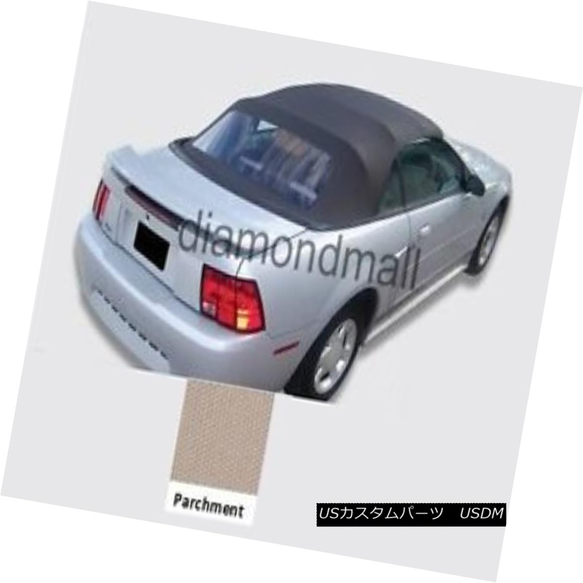 幌・ソフトトップ Ford mustang Convertible Soft top With Plastic window PARCHMENT Sailcloth 94-04 フォードmustangコンバーチブルソフトトッププラスチック窓付きPARCHMENT Sailcloth 94-04