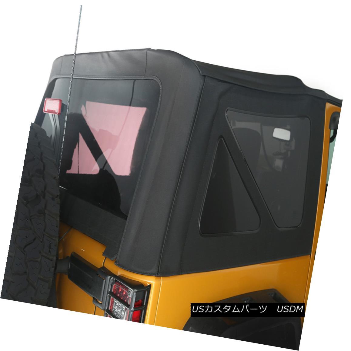 幌・ソフトトップ Black Diamond Sailcloth Soft Top 2Dr Jeep Wrangler JK 2010-2017 13737.01 ブラックダイヤモンド帆布ソフトトップ2DrジープラングラーJK 2010-2017 13737.01