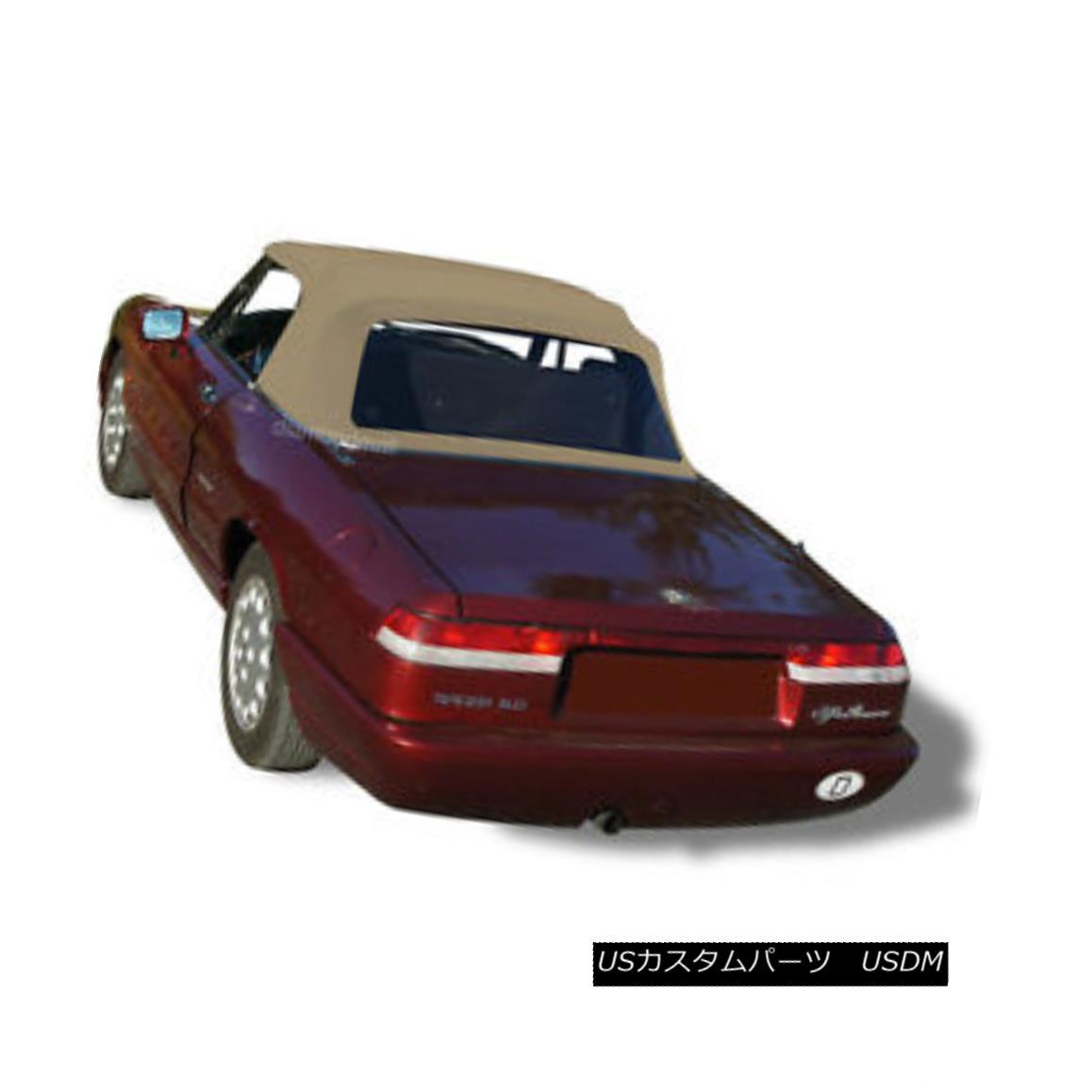 幌・ソフトトップ Alfa Romeo Spider Graduate Veloce Convertible Soft Top TAN Factory German Canvas Alfa Romeo Spider Graduate Veloce ConvertibleソフトトップTANファクトリードイツのキャンバス
