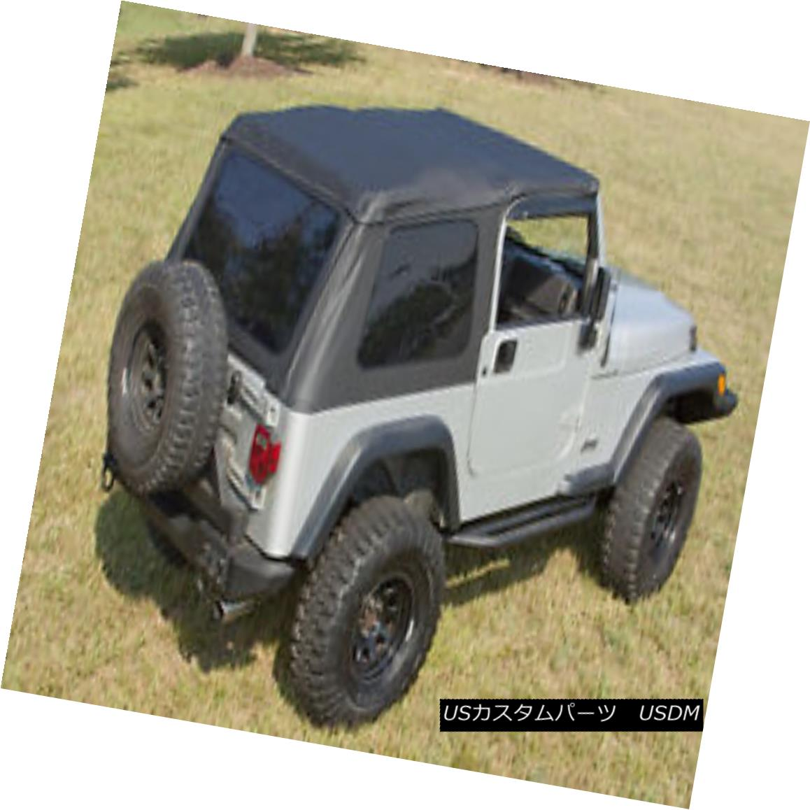 幌・ソフトトップ XHD Black Bowless Soft Top Fits: Jeep Wrangler TJ 1997-06 13750.35 Rugged Ridge XHDブラックボウレスソフトトップフィット:Jeep Wrangler TJ 1997-06 13750.35 Rugged Ridge
