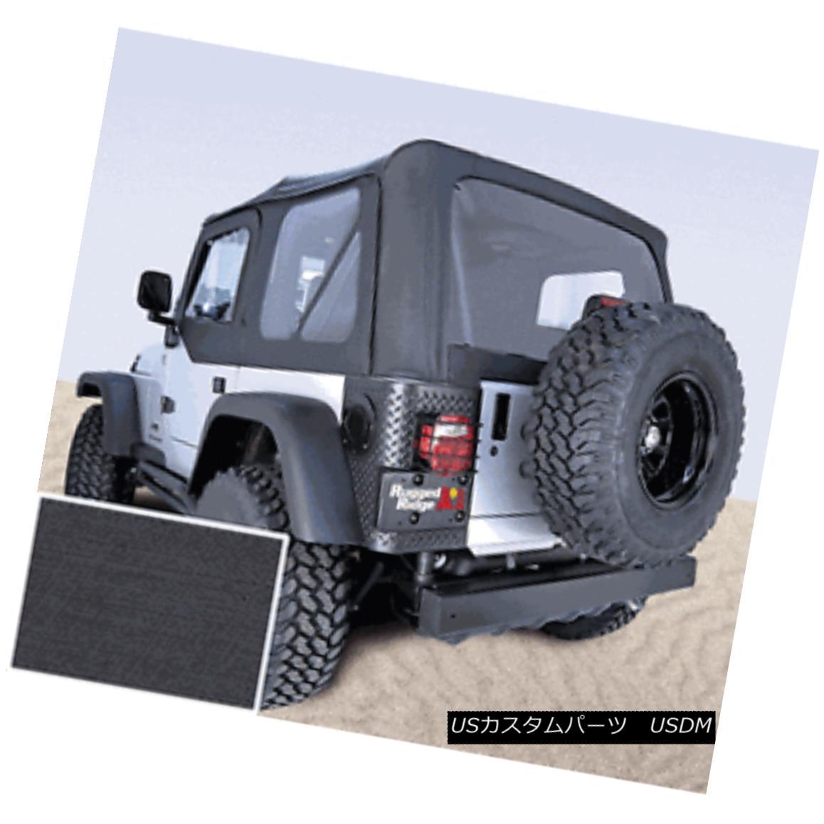 幌・ソフトトップ XHD Black Replacement Soft Top Jeep Wrangler YJ 1988-95 13721.15 Rugged Ridge XHDブラック交換ソフトトップジープラングラーYJ 1988-95 13721.15険しい尾根
