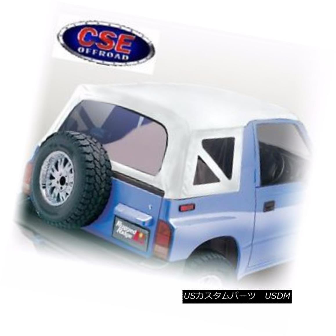 幌・ソフトトップ Soft Top White Denim Clear Windows Suzuki Sidekick 1988-94 53702.52 Rugged Ridge ソフトトップホワイトデニムクリアWindows Suzuki Sidekick 1988-94 53702.52 Rugged Ridge