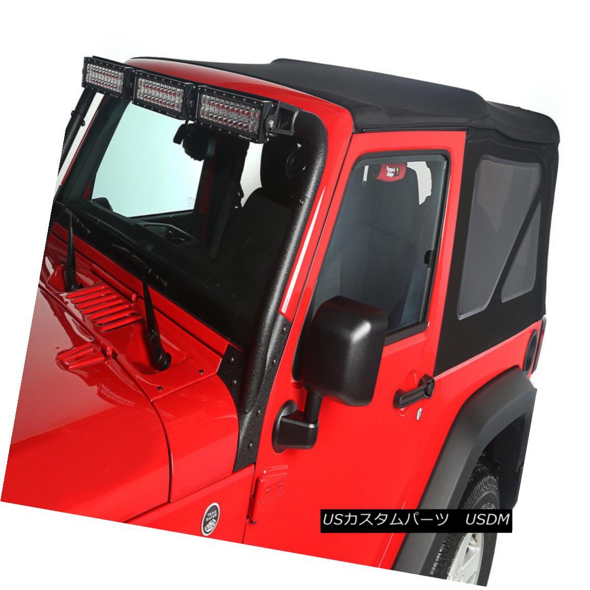 幌・ソフトトップ Soft Top Black Diamond 2 Door Jeep Wrangler JK 10-17 13737.35 Rugged Ridge ソフトトップブラックダイヤモンド2ドアジープラングラーJK 10-17 13737.35険しい尾根