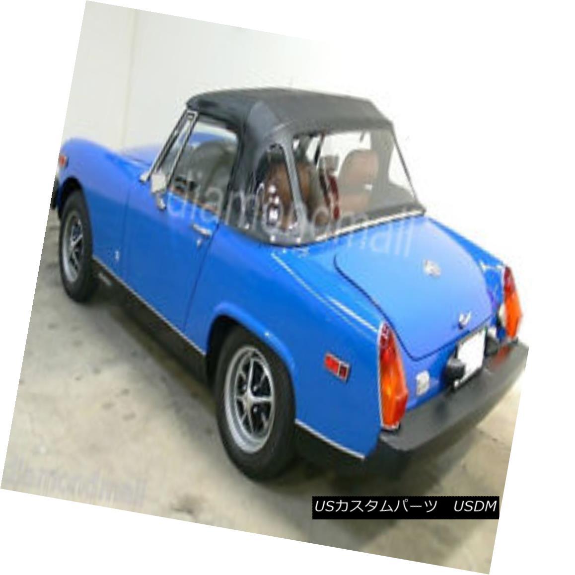 幌・ソフトトップ MG Midget Convertible Soft Top With 3 Plastic Windows 1970-1980 Black Vinyl MGミゼットコンバーチブルソフトトップ3プラスチック製ウィンドウ1970-1980ブラックビニール