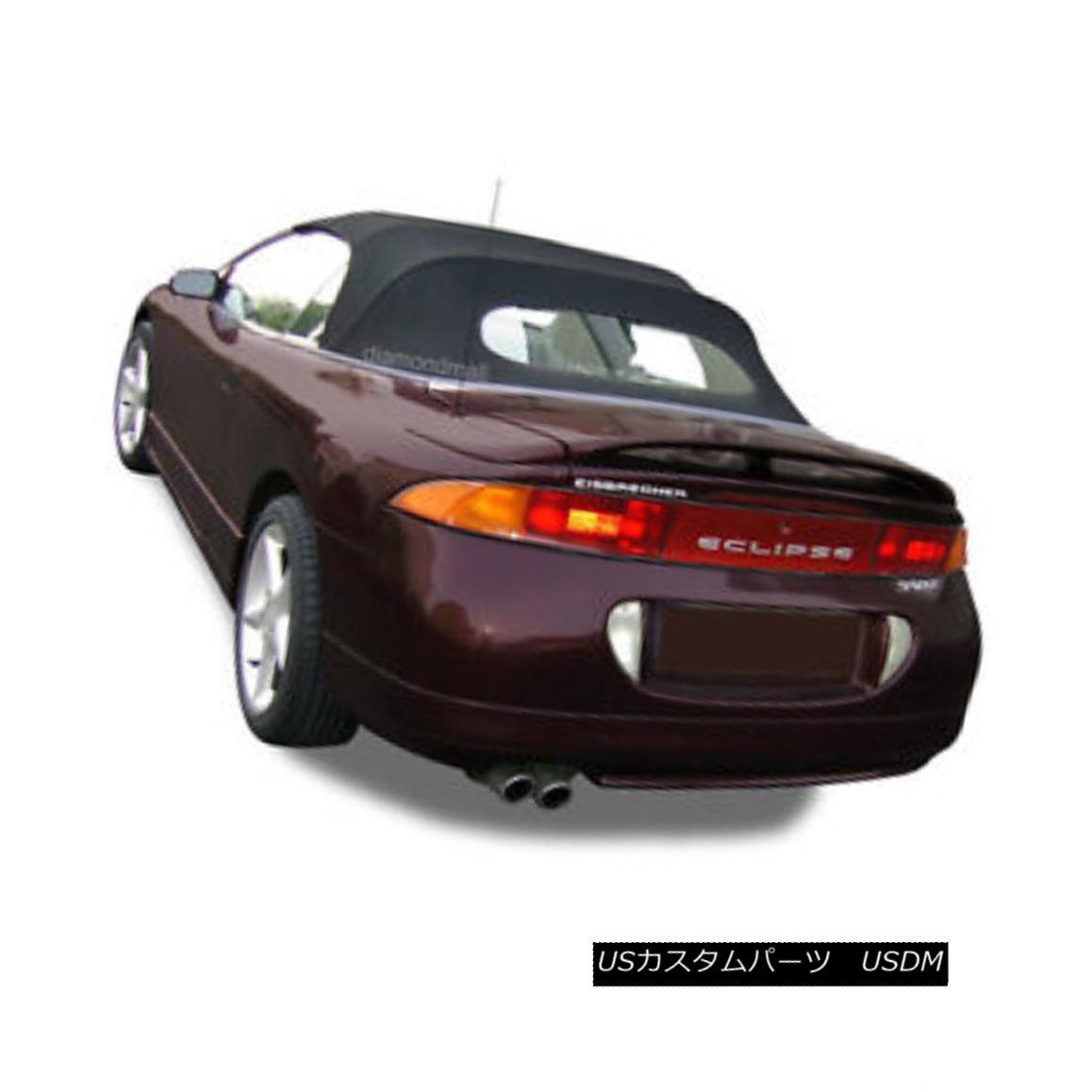 幌・ソフトトップ Mitsubishi Eclipse 1995-99 Convertible Soft Top & Glass Window Black Cloth 三菱Eclipse 1995-99コンバーチブルソフトトップ& ガラス窓黒い布