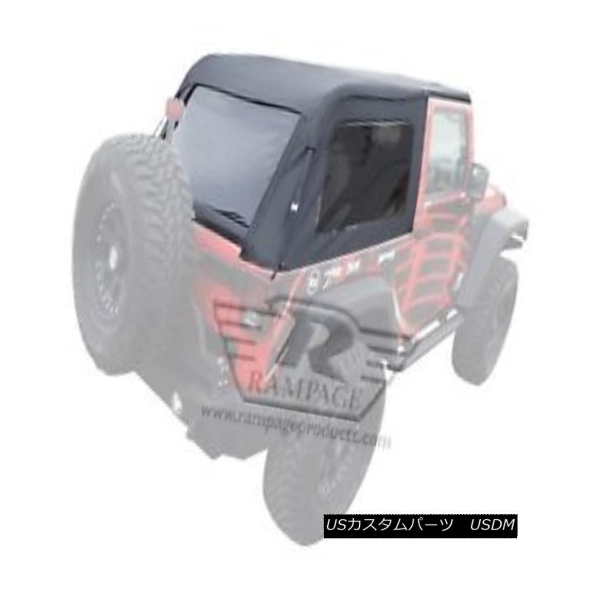 幌・ソフトトップ Rampage 109935 Frameless Soft Top Kit Sailcloth Fits 07-18 Wrangler (JK) ランペイジ109935フレームレスソフトトップキット07-18ラングラー(JK)