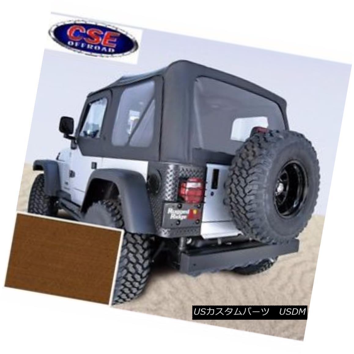 Tan Windows ダークタンソフトトップドアスキンクリアウィンドウジープラングラーTJ Skins Dark Jeep TJ 13703.33 97-02 Door Clear 13703.33 Wrangler Soft 幌・ソフトトップ Top with 97-02