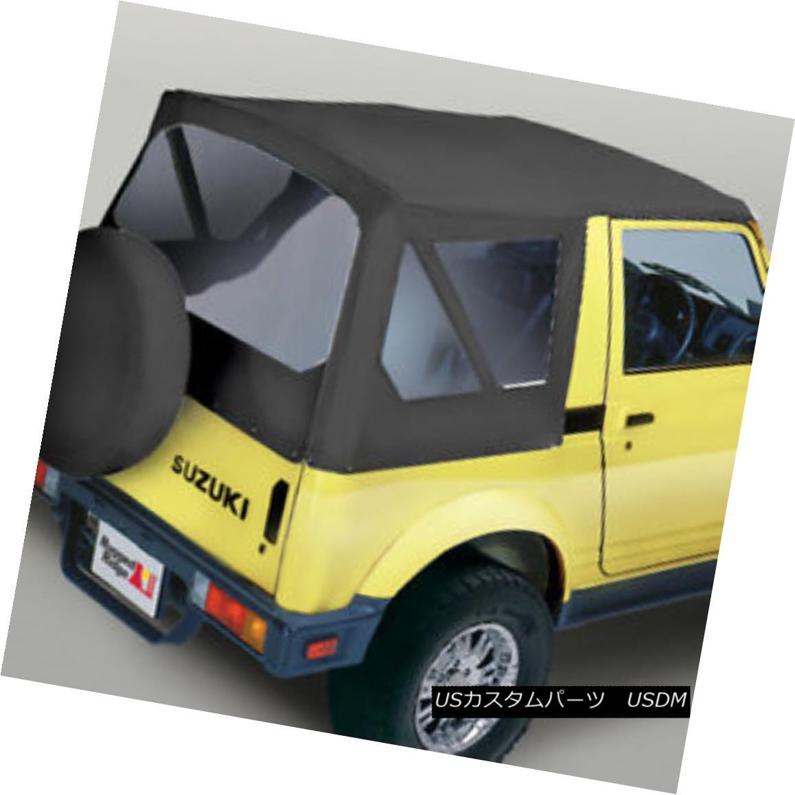 幌・ソフトトップ Rugged Ridge 53721.15 XHD Soft Top Black Denim Clear Windows Suzuki Samurais Rugged Ridge 53721.15 XHDソフトトップブラックデニムクリアウィンドウズSuzuki Samurais