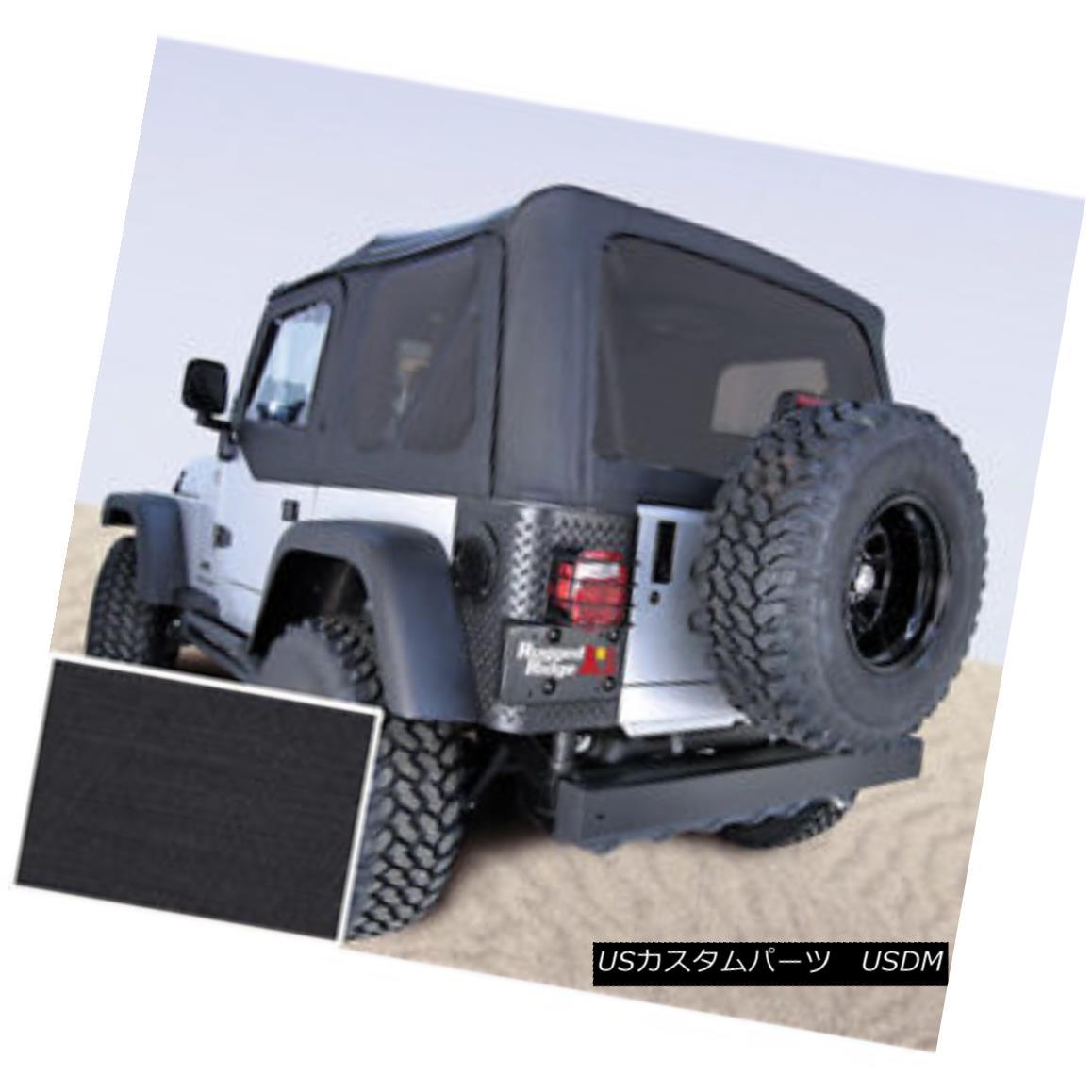 幌・ソフトトップ Rugged Ridge 13710.35 Soft Top No Door Skins Black Tinted Windows Jeep Wrangler Rugged Ridge 13710.35ソフトトップドアスキンなしブラックティンテッドウィンドウジープラングラー