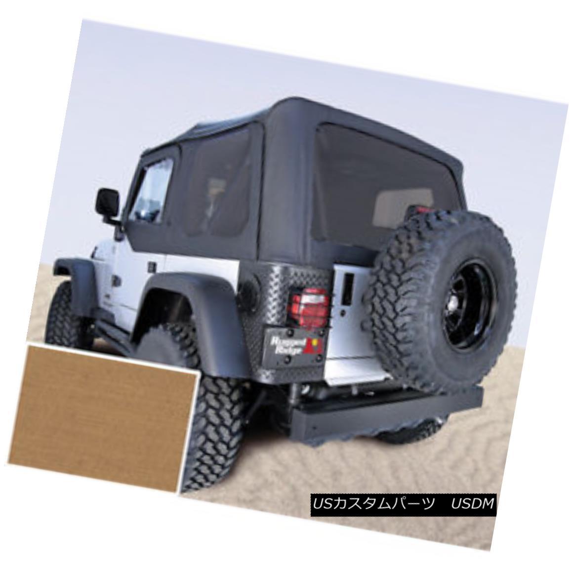 幌・ソフトトップ Rugged Ridge 13726.37 XHD Soft Top Spice Tinted Window 97-06 Jeep Wrangler 頑丈な尾根13726.37 XHDソフトトップスパイスティント付きウィンドウ97-06ジープラングラー