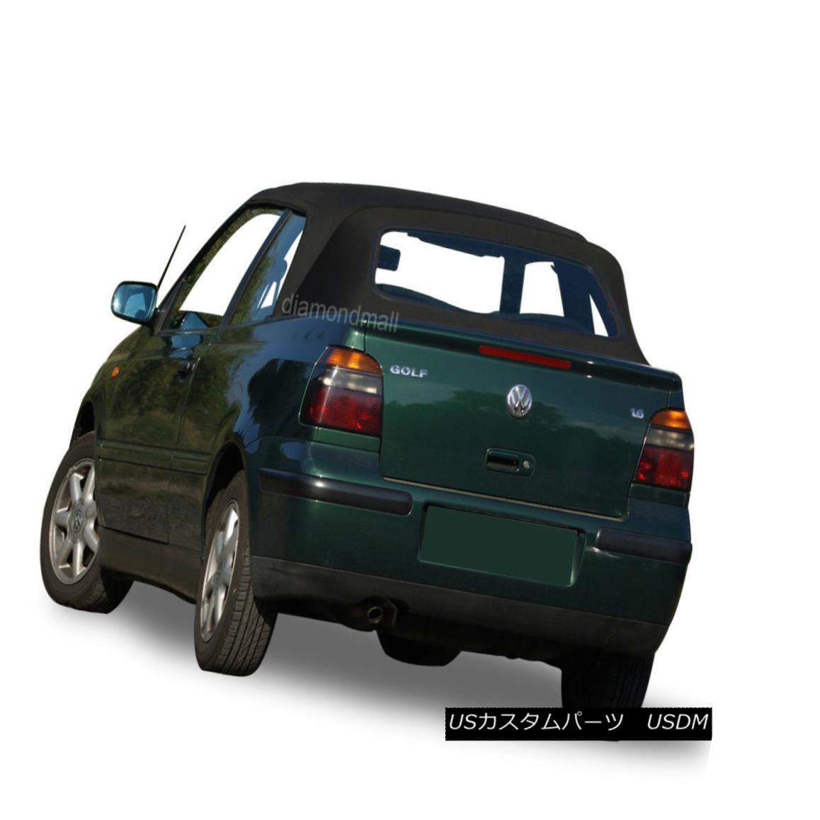 幌・ソフトトップ VW Volkswagen Golf Cabrio Cabriolet 1995-2001 Convertible Soft Top Black Vinyl VWフォルクスワーゲンゴルフCabrio Cabriolet 1995-2001コンバーチブルソフトトップブラックビニール
