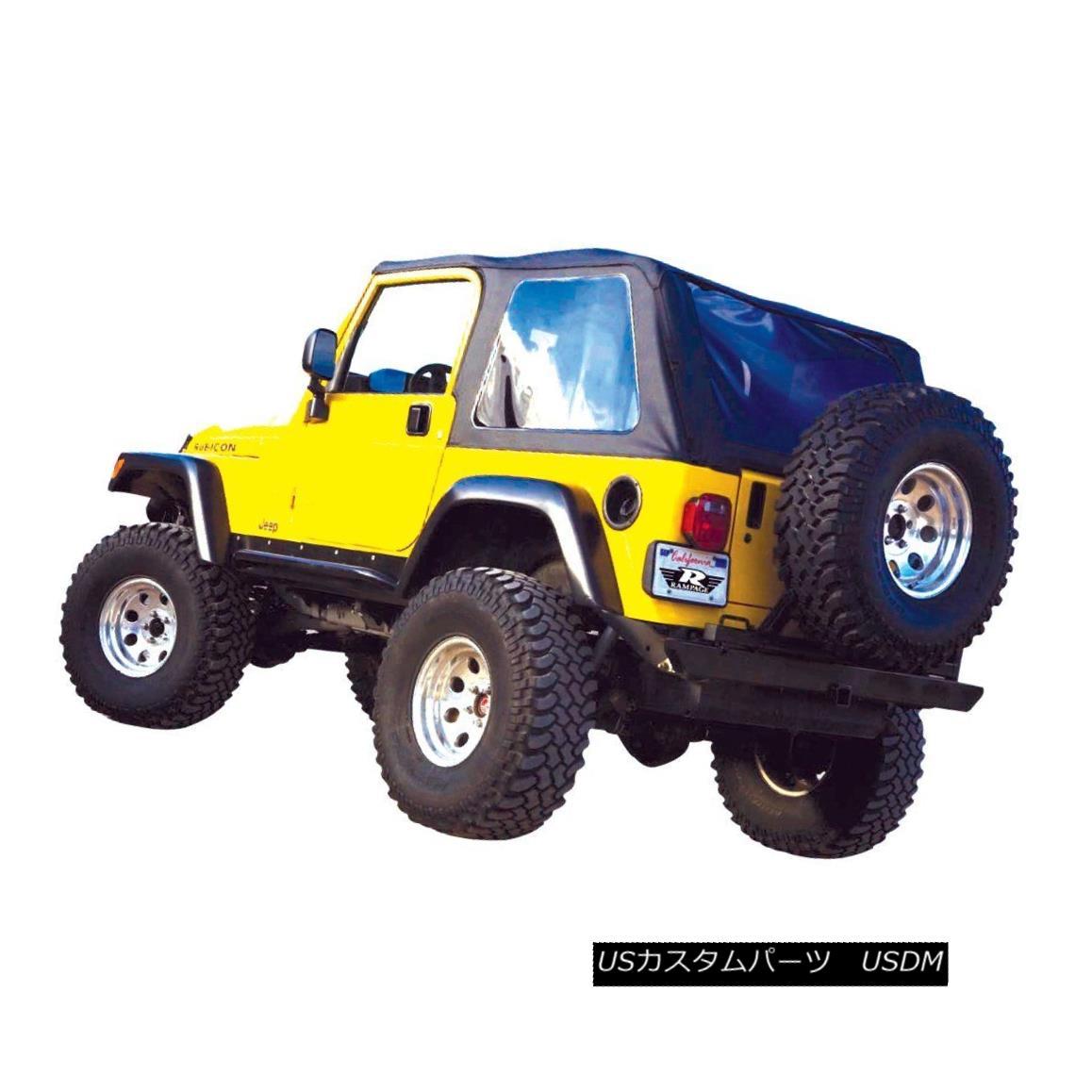幌・ソフトトップ Rampage New Soft Top Black Jeep Wrangler 2007-2016 ランペイジ新ソフトトップブラックジープラングラー2007-2016