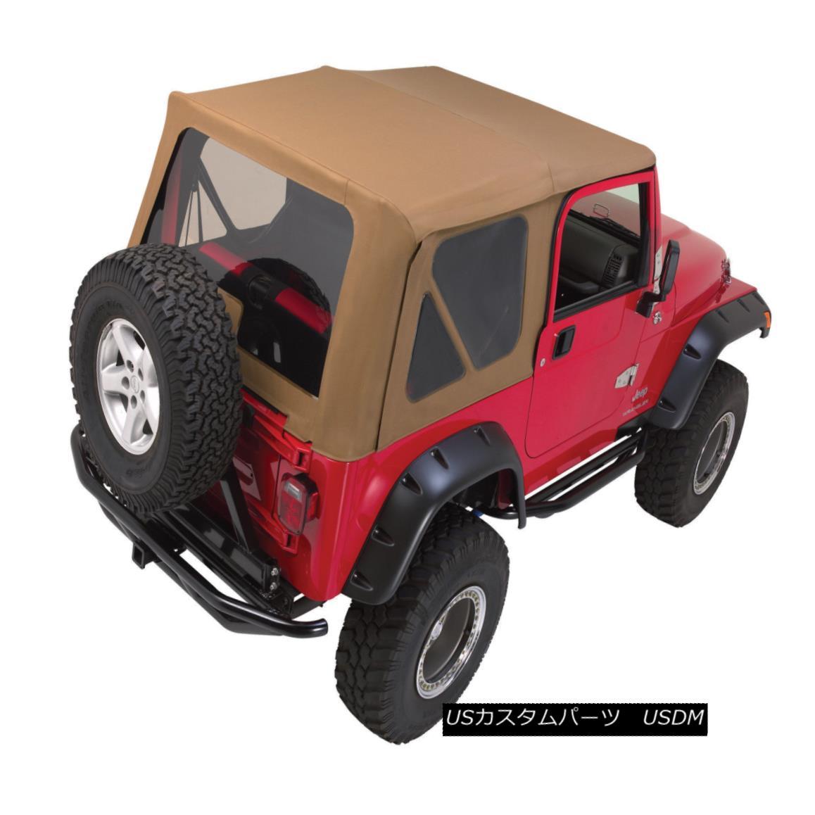 幌・ソフトトップ 97-06 Jeep Wrangler Soft Top Canvas + Front Upper Doors 3 Rear Windows TJ Spice 97-06ジープラングラーソフトトップキャンバス+フロントアッパードア3リアウィンドウTJスパイス