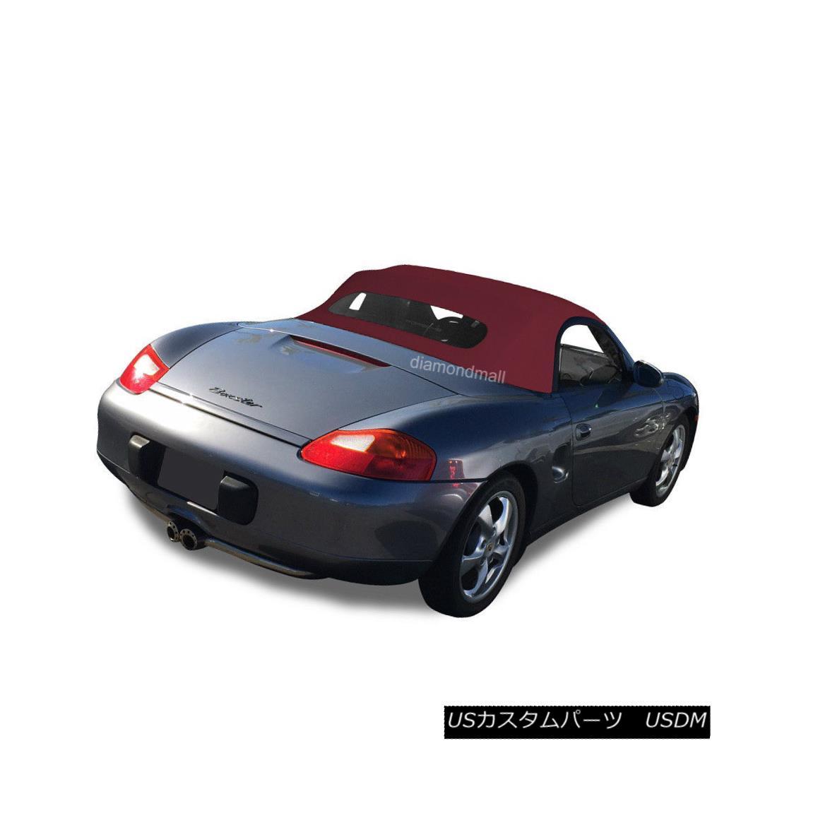 幌・ソフトトップ Porsche Boxster 1997-02 Convertible Soft Top & Heated Glass Window Bordeaux STF Porsche Boxster 1997-02コンバーチブルソフトトップ& 加熱ガラス窓ボルドーSTF