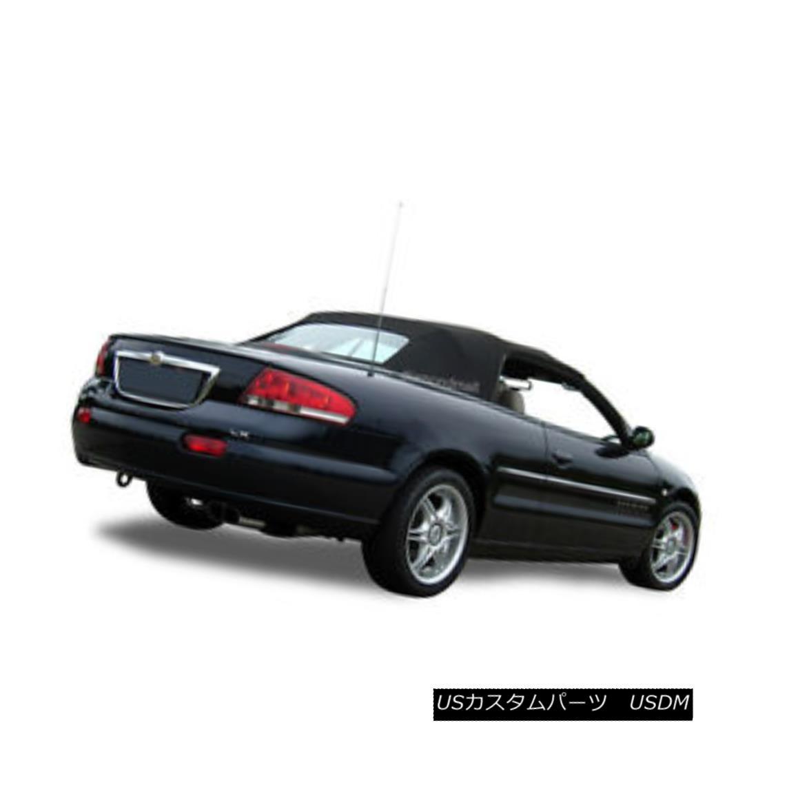 幌・ソフトトップ Chrysler Sebring Convertible Soft Top & Heated Glass window 1996-2006 Black クライスラーセブリングコンバーチブルソフトトップ& 加熱ガラスの窓1996-2006黒
