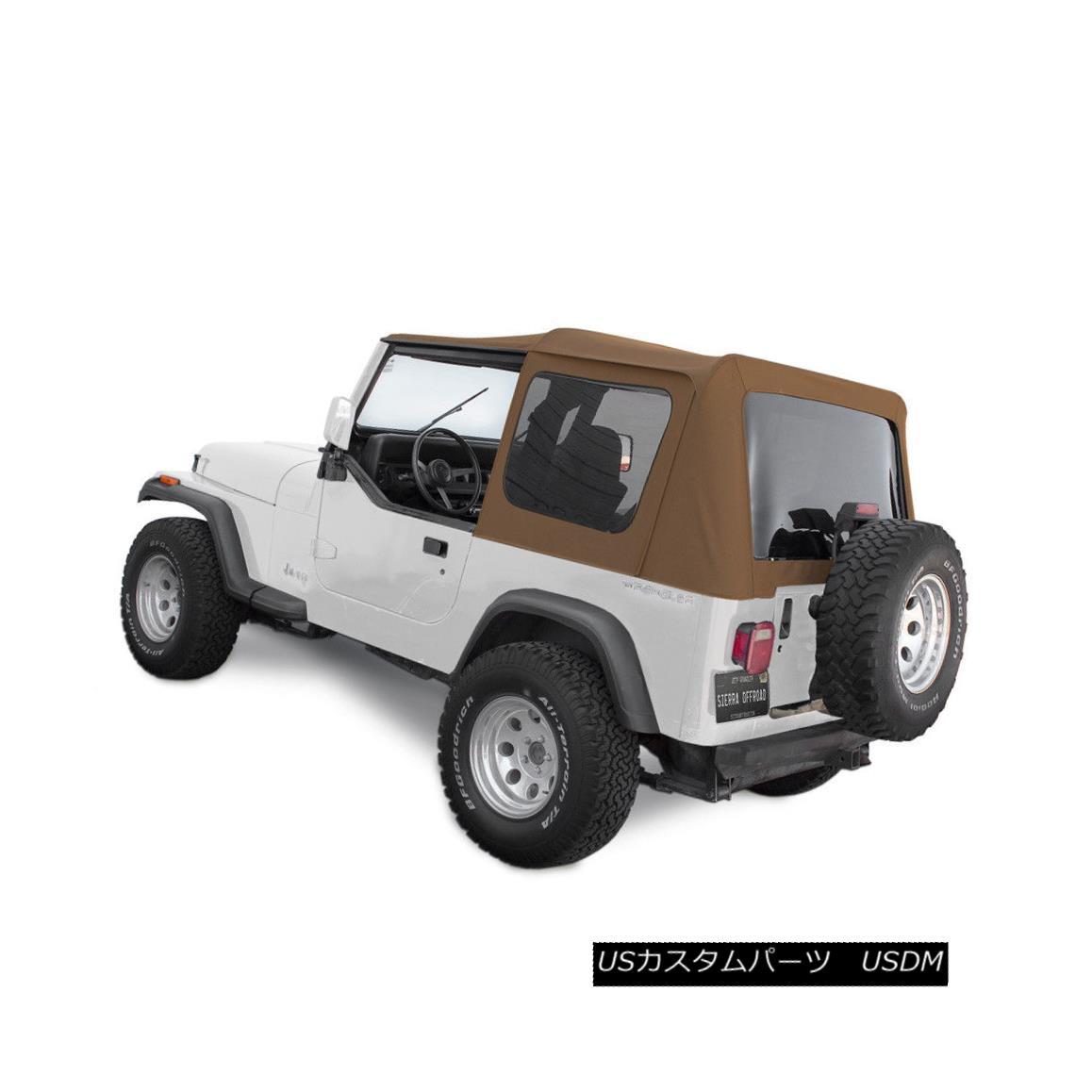 幌・ソフトトップ Jeep Soft Top for 88-95 Wrangler YJ w/Tinted Windows in Spice Denim ジープソフトトップ、88-95 Wrangler YJ(スパイスデニム入り)