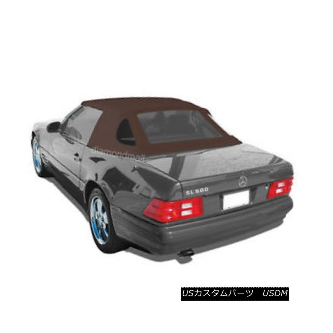 幌・ソフトトップ Mercedes R129 SL Convertible Soft Top 1990-2002 BROWN GERMAN OEM Canvas Cloth メルセデスR129 SLコンバーチブルソフトトップ1990-2002 BROWN GERMAN OEMキャンバスクロス