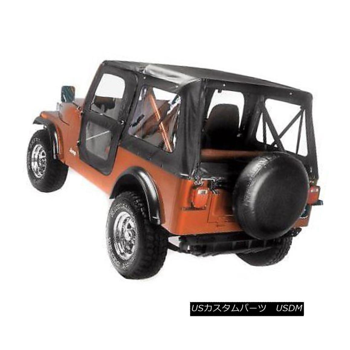 <title>車用品 バイク用品 >> パーツ 外装 エアロパーツ その他 幌 ソフトトップ Bestop New Soft Top Black Jeep 秀逸 CJ5 1976-1983 ベストトップ新ソフトトップブラックジープCJ5</title>