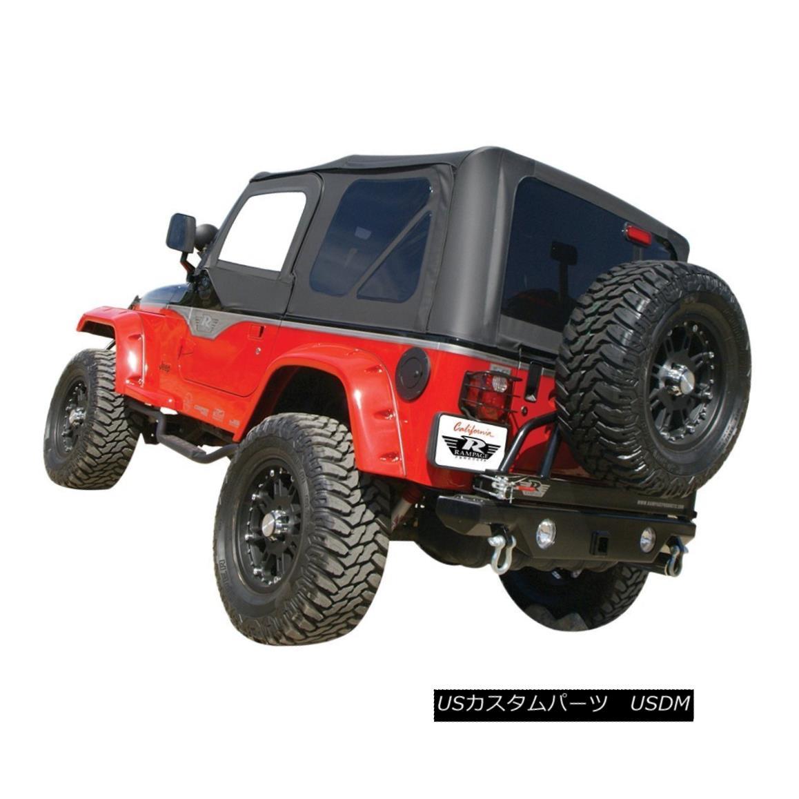 幌・ソフトトップ Rampage 912935 Soft Top For 97-2006 Jeep Wrangler (TJ) Rampage 912935 Soft Top for 97-2006ジープラングラー(TJ)