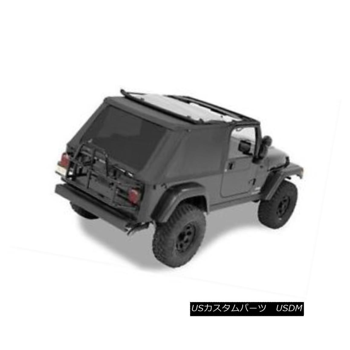 幌・ソフトトップ Bestop 56821-35 Soft Top Polymer Cloth Black Diamond Tinted Windows Jeep 2-door Bestop 56821-35ソフトトップポリマー布ブラックダイヤモンドティンテッドWindowsジープ2ドア