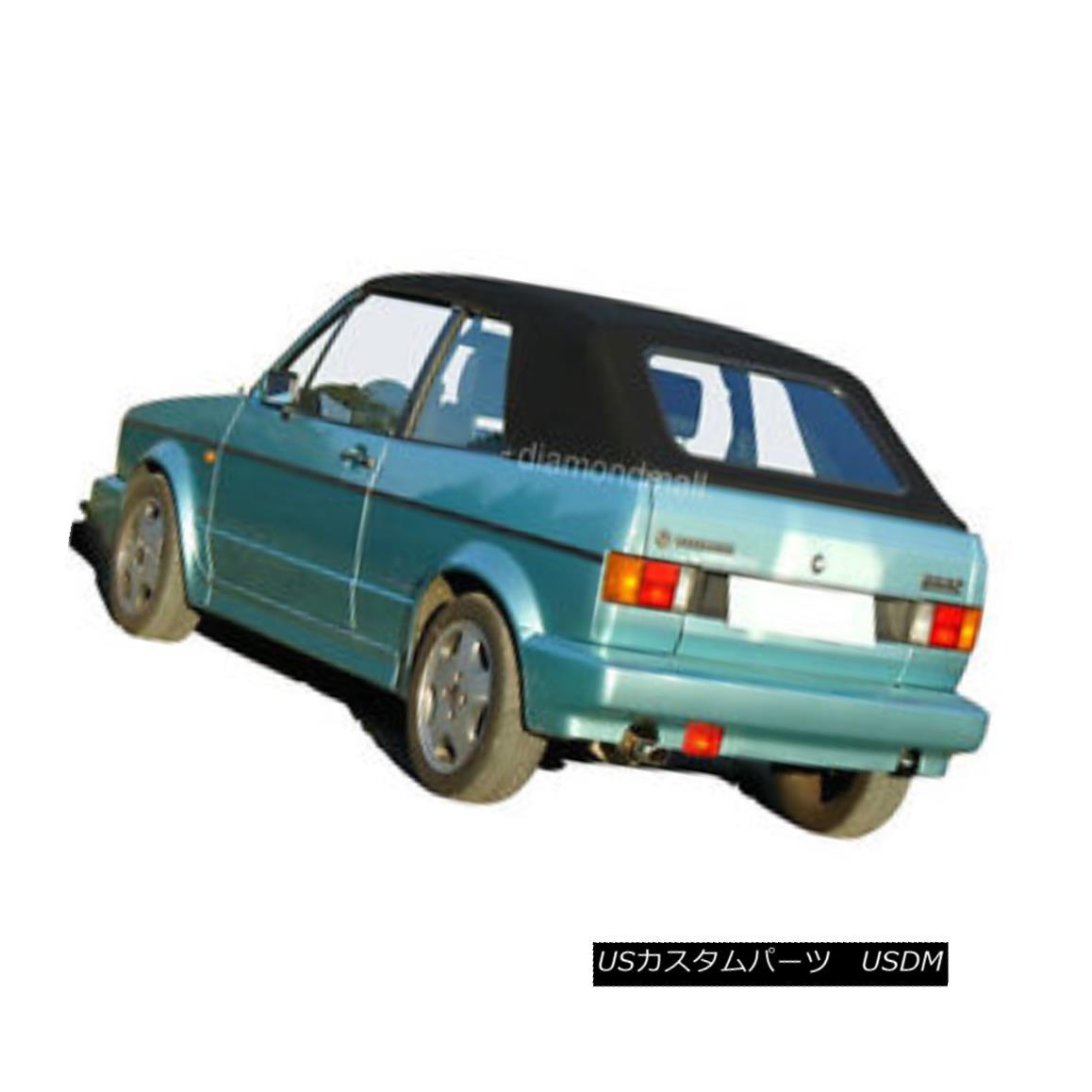 幌・ソフトトップ VW Volkswagen Rabbit Cabriolet Golf 1980-94 Convertible Soft Top Black Stayfast VWフォルクスワーゲンウサギカブリオレゴルフ1980-94コンバーチブルソフトトップブラックブラック