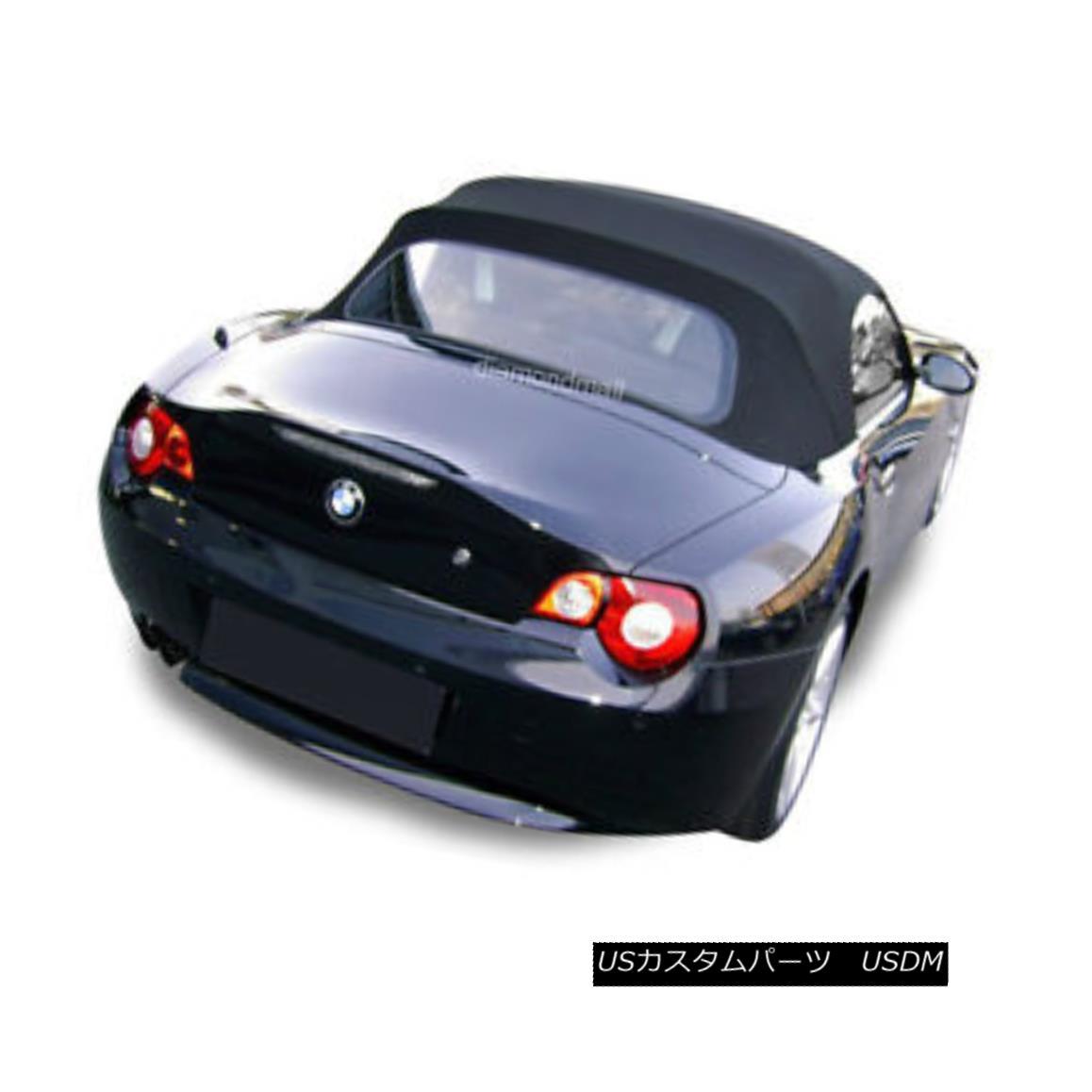 幌・ソフトトップ BMW Z4 2003-2008 Convertible Soft Top Replacement & Glass Window Black Stayfast BMW Z4 2003-2008コンバーチブルソフトトップ交換& ガラス窓ブラックステイファースト