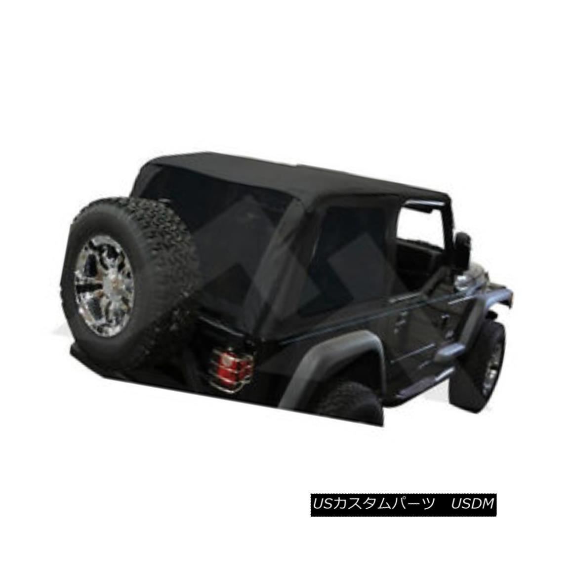 幌・ソフトトップ Jeep Wrangler TJ Bowless Soft Top Black Diamond with Tint 1997-2006 BRT10035 ジープラングラーTJ Bowlessソフトトップブラックダイヤモンドティント1997-2006 BRT10035