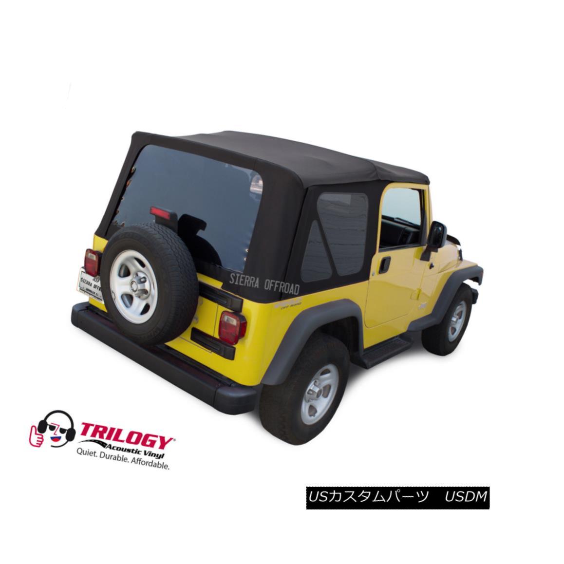 幌・ソフトトップ Jeep Wrangler TJ Soft top, 2003-2006, Tinted Windows, Black Twill Vinyl ジープ・ラングラーTJソフトトップ、2003年?2006年、ティンテッド・ウィンドウズ、ブラック・ツイル・ビニール