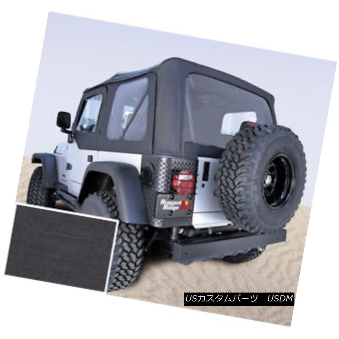 幌・ソフトトップ Rugged Ridge 13725.15 XHD Soft Top Black Clear Windows 97-06 Jeep Wrangler 頑丈なリッジ13725.15 XHDソフトトップブラッククリアWindows 97-06ジープラングラー