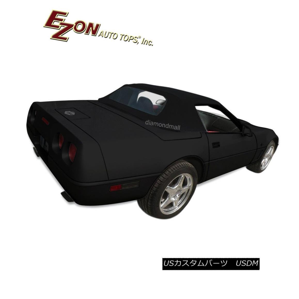 幌・ソフトトップ Chevy Corvette C4 1986-1996 Convertible Soft Top With Glass window Black Vinyl シボレーコルベットC4 1986-1996ガラスウィンドウ付きのコンバーチブルソフトトップブラックビニール