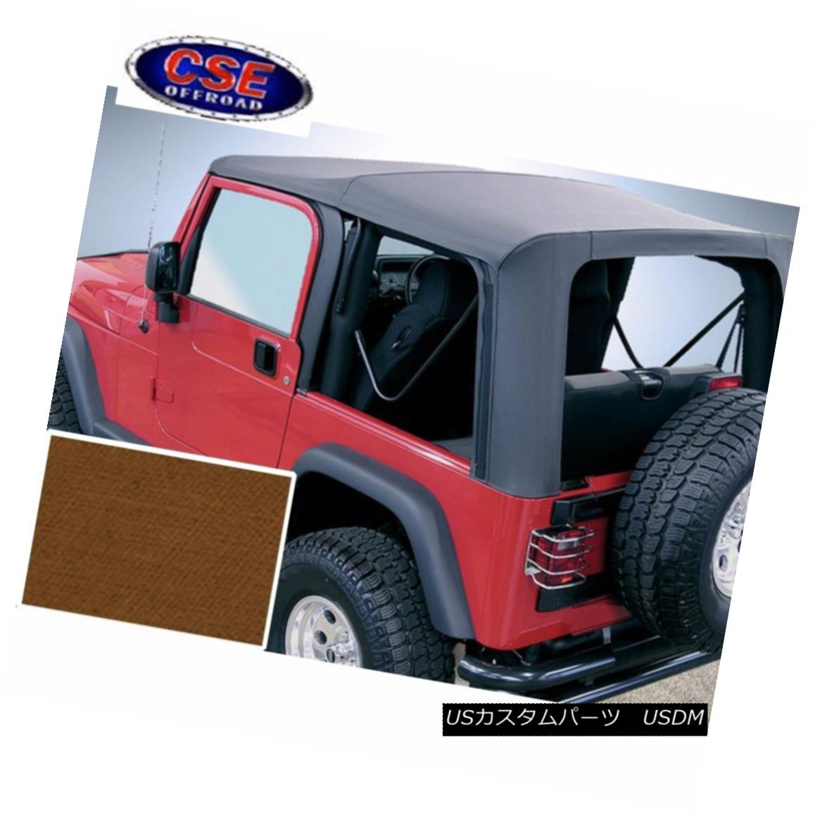 幌・ソフトトップ Jeep Wrangler TJ Soft Top Dark Tan Clear Windows 97-02 Rugged Ridge 13705.33 ジープラングラーTJソフトトップダークタンクリアWindows 97-02 Rugged Ridge 13705.33