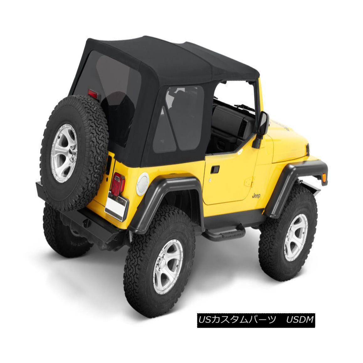 幌・ソフトトップ 1997-2006 Jeep Wrangler (TJ) Replacement Soft Top with Tinted Rear Windows Black 1997年?2006年ジープラングラー(TJ)交換用ソフトトップ、ティンテッドリアウィンドウブラック