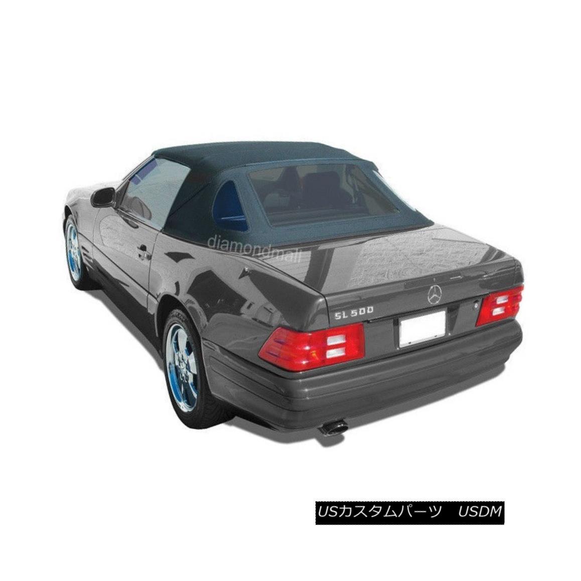 幌・ソフトトップ Mercedes R129 SL Convertible Soft Top Replacement 1990-2002 Black Stayfast Cloth メルセデスR129 SLコンバーチブルソフトトップ交換1990-2002ブラックステイファストクロス