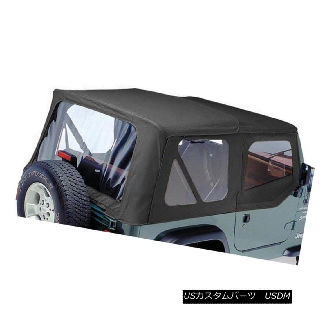 幌・ソフトトップ Pavement Ends New Soft Top Black Jeep Wrangler 1997-2002 舗装が新しいソフトトップブラックジープラングラー1997-2002を終了