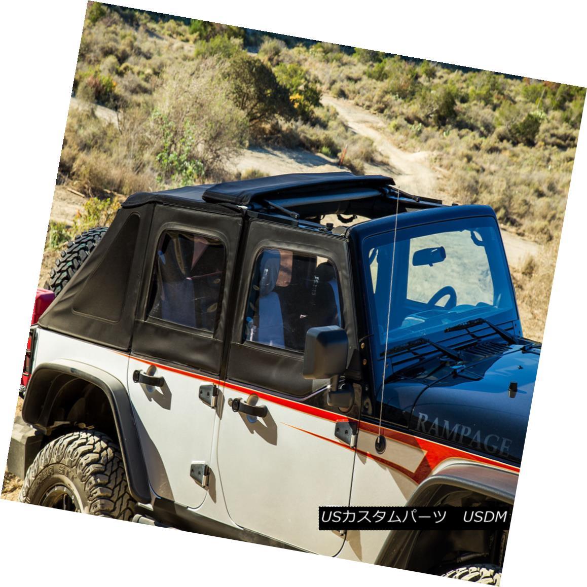 幌・ソフトトップ Rampage TrailView Framless Soft Top 07-16 Wrangler JK Unlimited 4-door, 139835 暴走TrailViewフレームレスソフトトップ07-16ラングラーJK無制限4ドア、139835