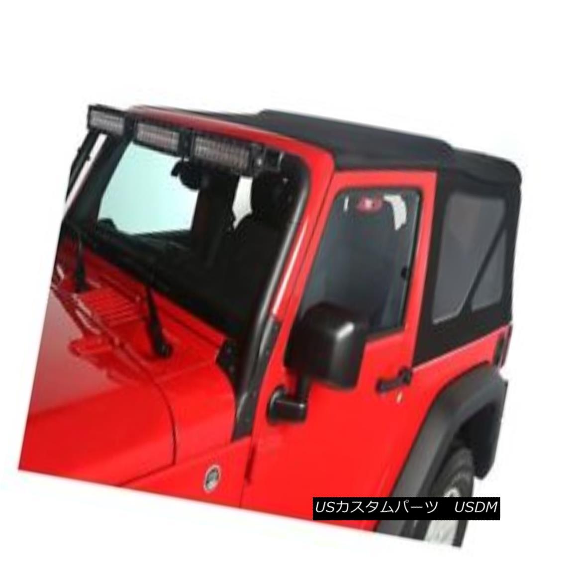 幌・ソフトトップ Rugged Ridge Replacement Soft Top Tinted-Black, Wrangler JK 2dr.; 13737.35 頑丈なリッジ交換ソフトトップティンテッドブラック、Wrangler JK 2dr .; 13737.35