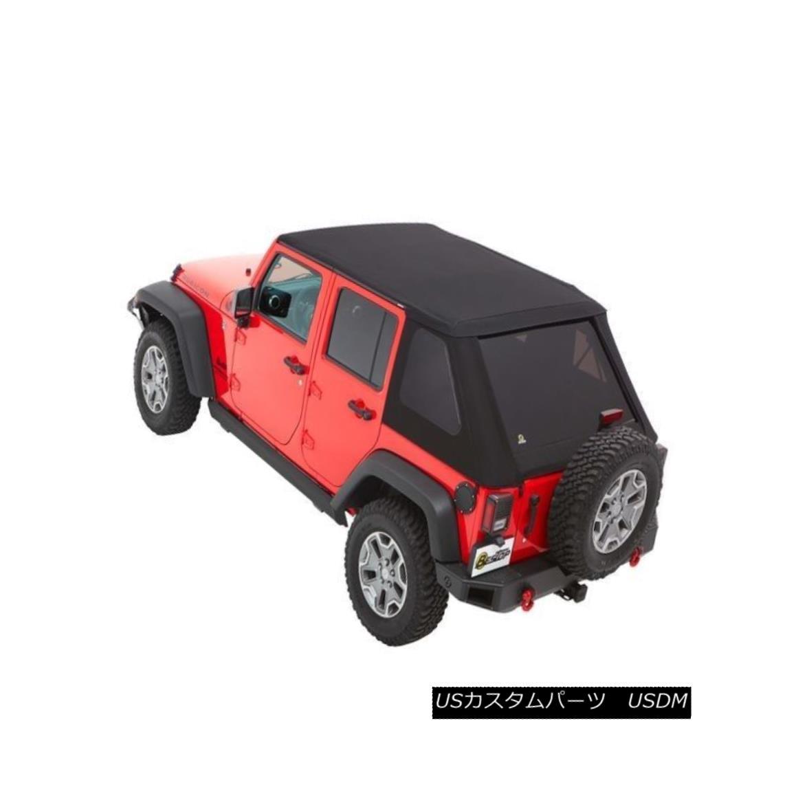 幌・ソフトトップ Bestop TrekTop NX Plus Black Diamond Soft Top 07-17 Jeep Wrangler JK Unlimited Bestop TrekTop NX Plusブラックダイヤモンドソフトトップ07-17ジープラングラーJK Unlimited