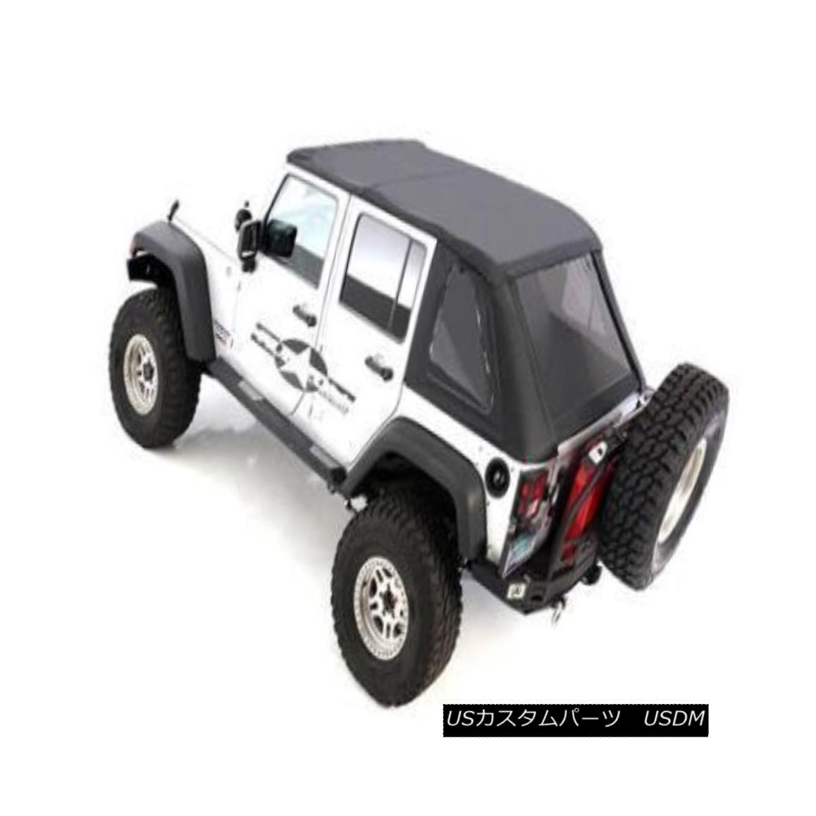 幌・ソフトトップ Smittybilt Bowless Soft Top Combo Jeep Wrangler JKU 4 DR Black Diamond 9083235 Smittybilt BowlessソフトトップコンボジープラングラーJKU 4 DRブラックダイヤモンド9083235