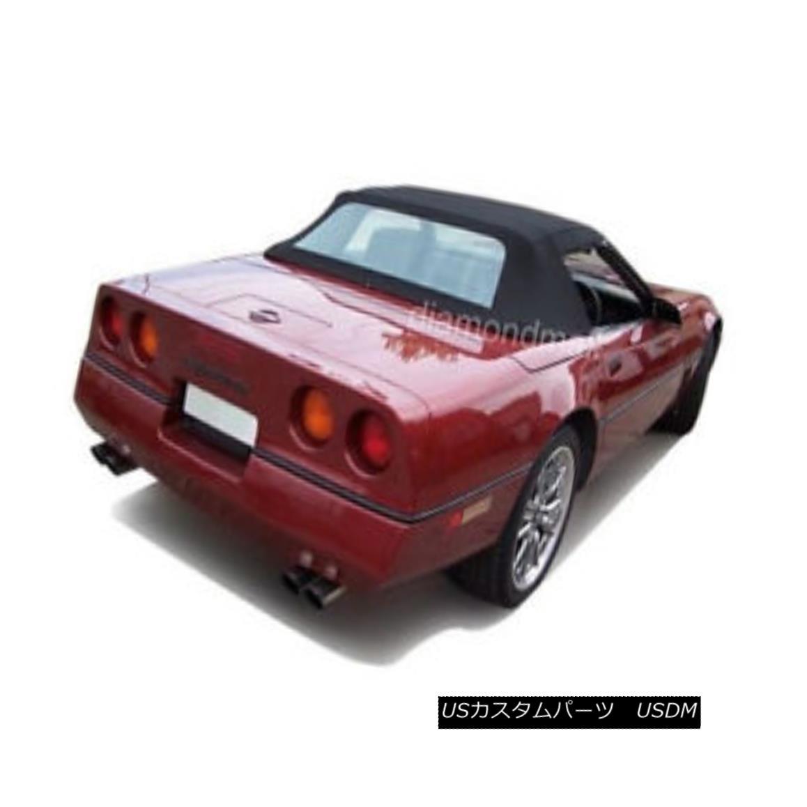 幌・ソフトトップ Chevy Corvette 1986-1993 Convertible Soft Top With Plastic Window Black Stayfast シェビー・コルベット1986-1993コンバーチブル・ソフト・トップ・プラスティック・ウィンドウブラック・ステイファースト