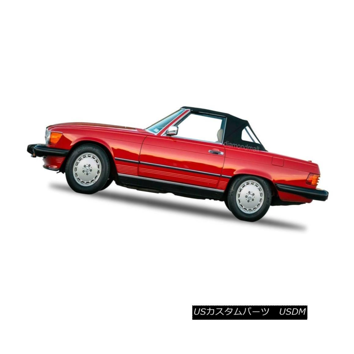 幌・ソフトトップ Mercedes R107 560SL 380SL 450SL Convertible Soft Top 1972-1989 BLACK STAYFAST メルセデスR107 560SL 380SL 450SLコンバーチブルソフトトップ1972-1989 BLACK STAYFAST