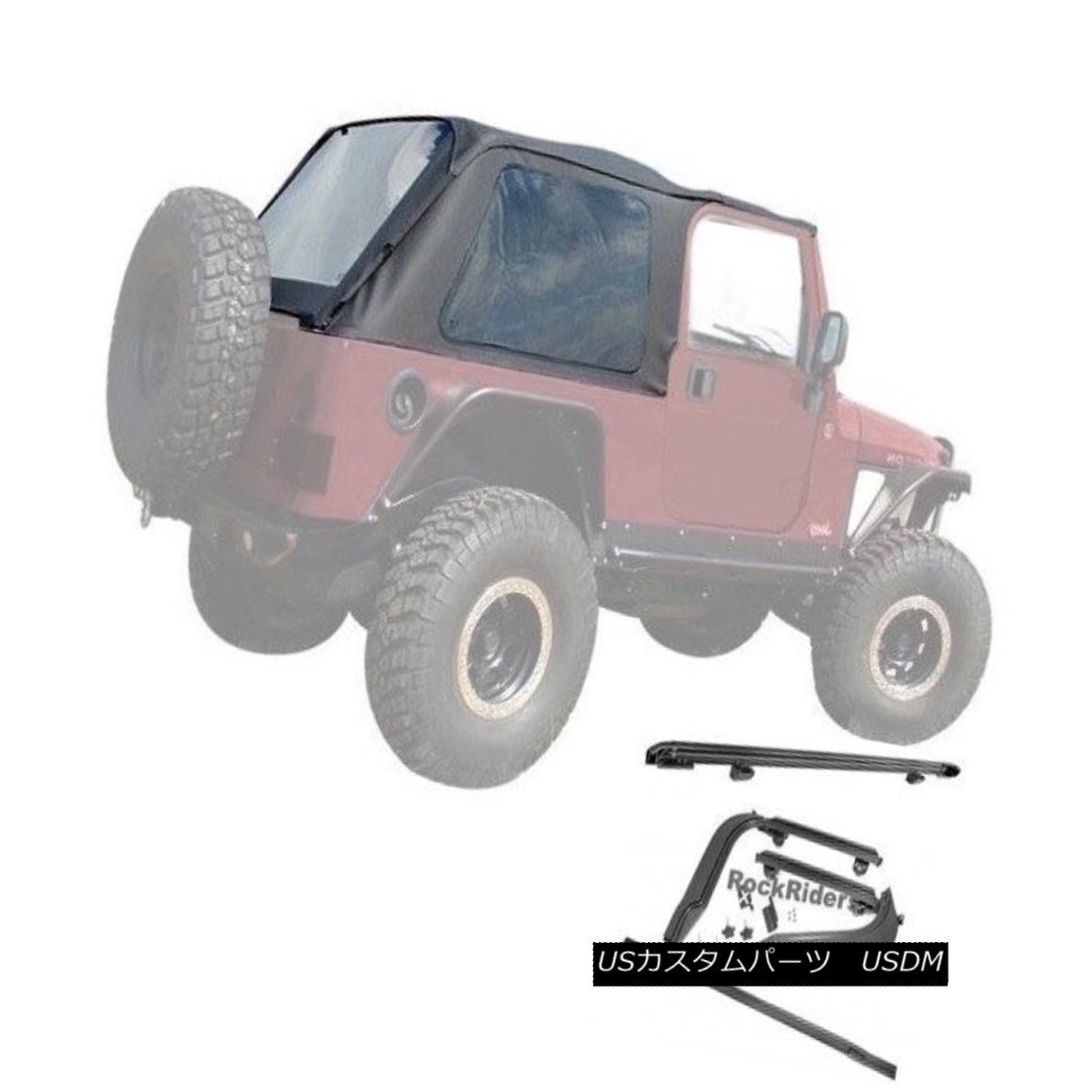 幌・ソフトトップ 2004-2006 Jeep Wrangler Unlimited LJ Frameless Soft Top w/ Mounting Hardware Kit 2004-2006ジープ・ラングラー無制限LJフレームレス・ソフトトップ(取り付け用ハードウェア・キット付き)