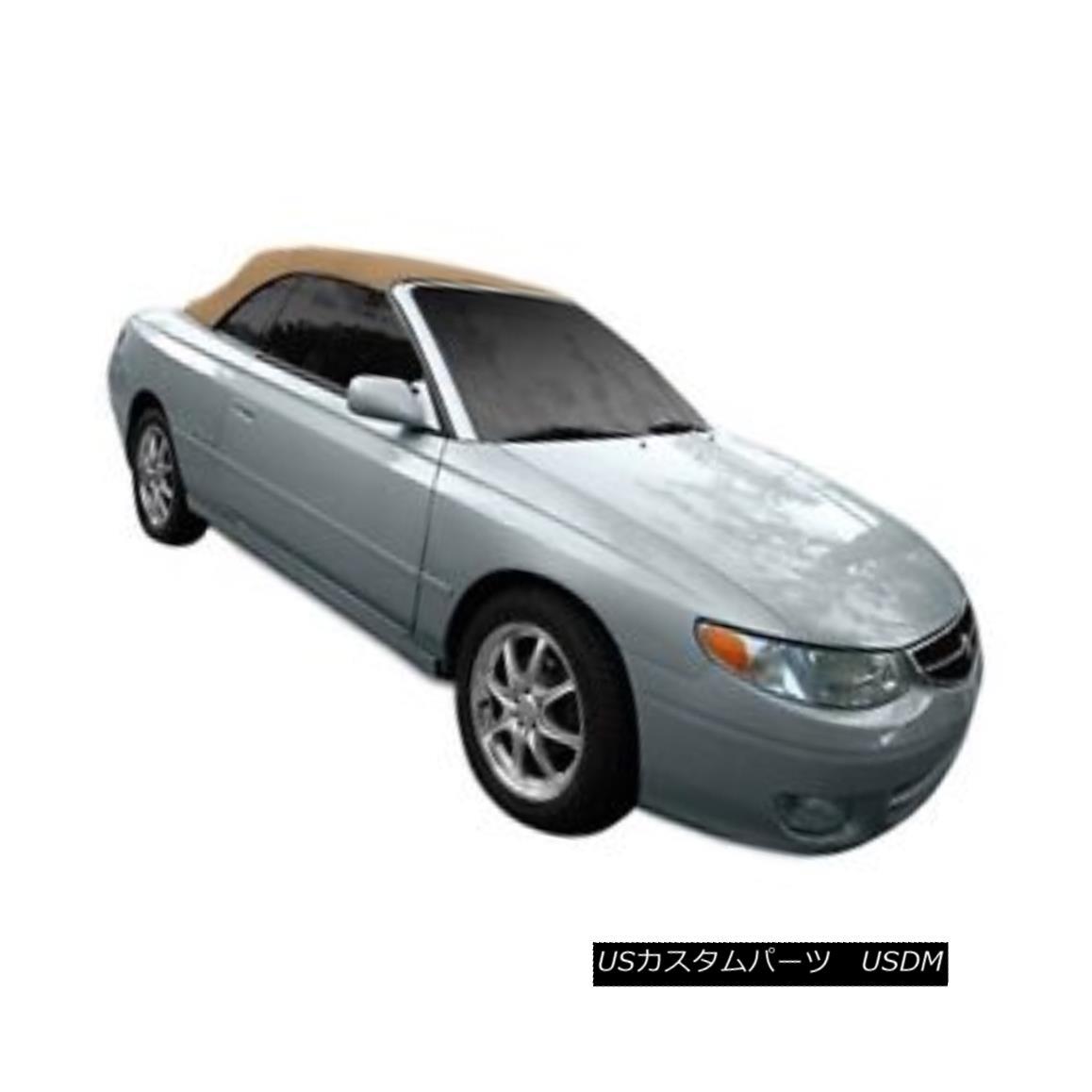 幌・ソフトトップ TOYOTA Solara Convertible Soft Top With Plastic Window 1999-2003 Tan Pinpoint TOYOTAソララ・コンバーチブル・ソフトトップ(プラスチック窓付き)1999-2003 Tan Pinpoint