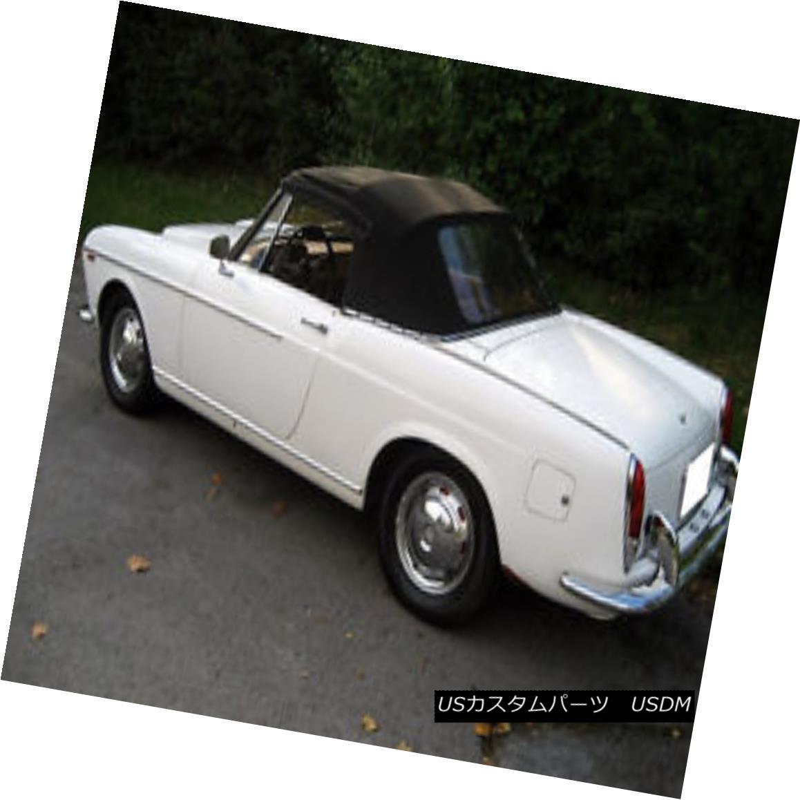 幌・ソフトトップ Fiat 1100 1200 1500 1964-1966 Convertible Soft Top & Plastic Window Black Cloth Fiat 1100 1200 1500 1964-1966コンバーチブルソフトトップ& プラスチック製の窓黒い布