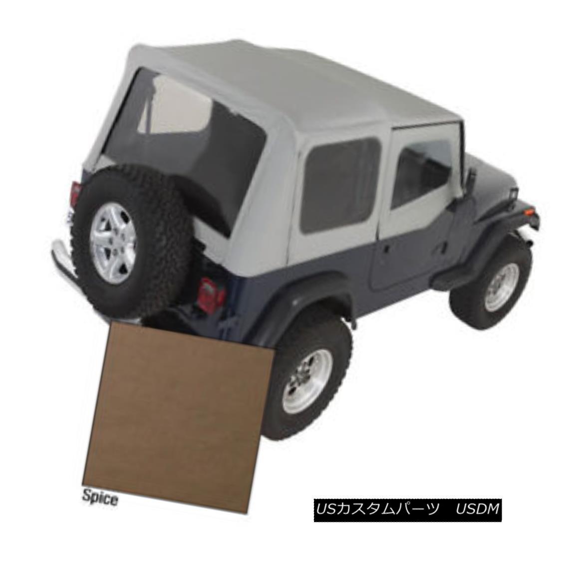 幌・ソフトトップ Rugged Ridge 13721.37 XHD Soft Top Spice Clear Windows 88-95 Jeep Wrangler 頑丈なリッジ13721.37 XHDソフトトップスパイスクリアウィンドウ88-95ジープラングラー