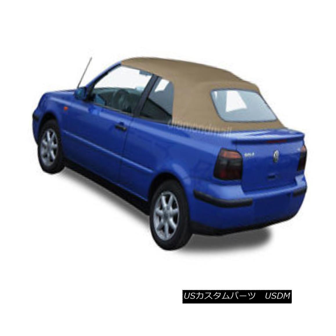 幌・ソフトトップ VW Volkswagen Golf Cabrio Cabriolet 1995-2001 Convertible Soft Top Tan German VWフォルクスワーゲンゴルフCabrio Cabriolet 1995-2001コンバーチブルソフトトップタンドイツ語