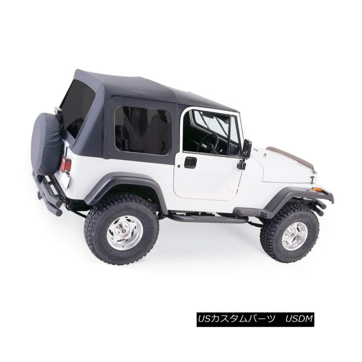 幌・ソフトトップ Rampage New Soft Top Black Jeep Wrangler 1987-1995 ランペイジ新ソフトトップブラックジープラングラー1987-1995